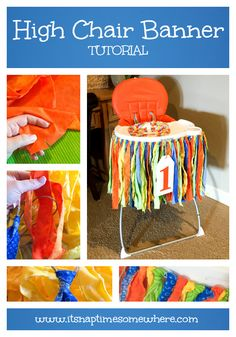 High Chair Banner Tutorial - Step by Step Instructions to make a high chair banner or rag banner for any occasion.