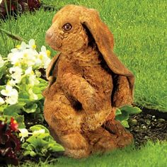 This Standing Lop-eared Rabbit Concrete Outdoor Garden Statue by Henri Studio is a solid, cast concrete piece of artwork for your yard. Concrete Garden Statues, Outdoor Garden Statues, Outdoor Gardens, Garden Lighting Effects, Grape Plant, Rabbit Garden, Animal Statues, Garden Signs, Garden Ornaments