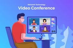Video conference | Premium Vector Workshop Icon, Education Banner, Online Presentation, Working People, Photo Craft, Instagram Feed, Videos, Web Design, Vector Technology