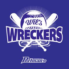 """T-shirt graphic for """"Wil's Wreckers"""" softball team #tshirt"""