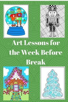 These fun and easy art lessons can be taught by parents, teachers or subs. Great for winter holidays; Christmas or Hannukah. Uses simple supplies like crayons and pencils. Christmas Art For Kids, Christmas Art Projects, Christmas Tree Art, Winter Art Projects, Easy Art Projects, Christmas Crafts, French Christmas, Christmas Activities, First Grade Art