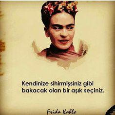 ✔Özünüzə sehrmişsiniz kimi baxacaq olan bir aşiq seçəsiniz. #Frida_Kahlo//////////////