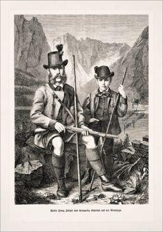 Kaiser Franz Joseph und sein Sohn Rudolf