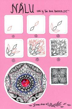 Zentangle-Muster - Nalu tangle pattern - Tina Hunziker