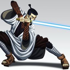 Jedi Jack! After his journey through time to defeat Aku Jack was introduce to the vastness of the universe. He soon found himself in a galaxy farm far away. Out here among the stars another blade wielding warrior thrived. Much like the samurai but with power he had not experienced before. After destroying his sword in a clash with a sith lord(Battousai the Jedi Slayer) he took the steel of his blade melted it down and merged it with it's hilt. With it and under the tutelage of an unknown…