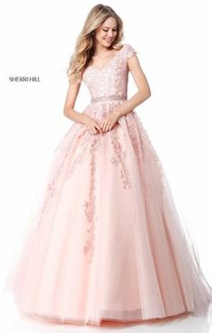 3e65d07335eb Sherri Hill, Spring 2018 Collection Pink Prom Dresses, Quinceanera Dresses,  15 Dresses,