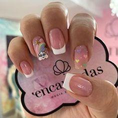 Soft Nails, Fancy Nails, Pink Nails, Cute Nails, Pretty Nails, My Nails, Nail Art Designs Videos, Cute Nail Designs, Flower Nails