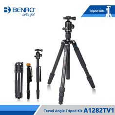238.85$  Buy here - http://alies7.worldwells.pw/go.php?t=32736569630 - Benro A1282TV1 Tripod Aluminum Tripods Flexible Monopod For Camera V1 Ball Head Carrying Bag Max Loading 14kg DHL Free Shipping 238.85$
