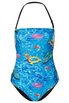 Blue Digital Pool Swimsuit - Swimsuits - Swimwear  - Clothing