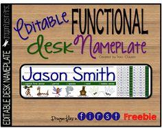 Desk Nameplate FREEBIE Revisited