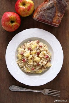 South Tyrol Speck and Apple Risotto - Risotto mele e speck.