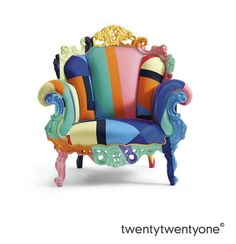 Proust Geometrica Chair by Alessandro Mendini