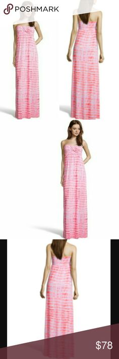 """WYATT NEON PINK TIE DYE STRAPLESS MAXI DRESS NWT-RETAIL WYATT NEON PINK TIE DYE STRAPLESS STRETCH JERSEY MAXI DRESS.  COLOR: NEON PINK & PALE PINK. LIGHTWEIGHT TIE-DYE PRINTED STRETCH JERSEY KNIT. STRAPLESS WITH RUCHING DETAIL. ELASTICIZED WAIST, PARTIALLY LINED,SLIP-ON, APPROXIMATELY 47"""" LONG FROM NATURAL WAIST. 96% RAYON 4% SPANDEX. DISCOUNTED BUNDLES AND FREE GIFT WITH EVERY PURCHASE! WYATT  Dresses Maxi"""