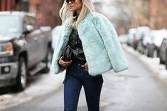 Image result for faux fur pale blue