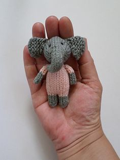 Ravelry: aniston31's Girl Elephant in a frondy frock