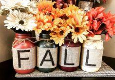 Fall Mason Jars set of 4