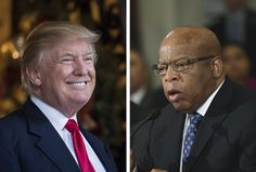 Jan. 16, 2017 - WashingtonPost.com - Editorial: Trump's attack on John Lewis is the  essence of narcissism