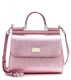 Dolce & Gabbana Miss Siciliy Metallic-leather Tote