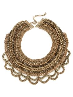 Gold Multi-Chain Bib Necklace | BaubleBar