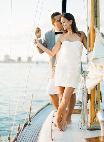 nautical wedding ( Anna Totten Rose Kitzelman You and Joe on . - Nautical Weddings-Part 2 - Yacht wedding Boat Wedding, Yacht Wedding, Wedding Tags, Dream Wedding, Wedding Ideas, Engagement Pictures, Engagement Shoots, Engagement Photography, Wedding Photography