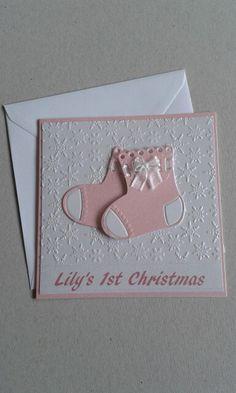 Personalised handmade babys first christmas card christmas babies personalised handmade babys first christmas card christmas babies pinterest christmas cards cards and baby cards m4hsunfo