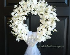 spring wreath summer wedding door wreath front door wreaths outdoors spring wreath white ivory wreaths country french weddings, decor