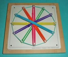 Here is a Circular GEOBOARD (hands-on math tool) that can be used with kids for FUN Measurement lessons as well as geometry and other . Math Tools, Teacher Tools, My Teacher, Teacher Stuff, Teaching Shapes, Teaching Tips, Teaching Math, Math Measurement, Math Fractions