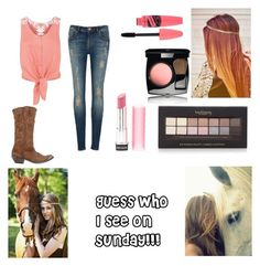 """""""I see my horse!!!!"""" by jamzm ❤ liked on Polyvore featuring Golden Goose, Ted Baker, Monsoon, Forever 21, Chanel, Revlon, country and Horse"""