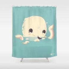 Adorable Octopus Battle Shower Curtain