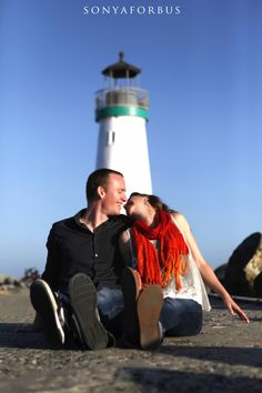 Outdoor engagement session at Seabright beach in Santa Cruz