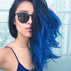 Azul é a cor mais quente   blue hair