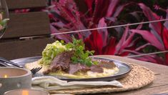 Sumac rubbed porterhouse with creamed corn & buttered cabbage Buttered Cabbage, Porterhouse, Alfredo Recipe, Creamed Corn, Better Homes And Gardens, Steaks, Entrees, Bbq, Cooking Recipes