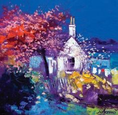 John Lowrie  Morrison (Jolomo) - Spring at Crinan from the www.redraggallery.co.uk online limited edition prints gallery.