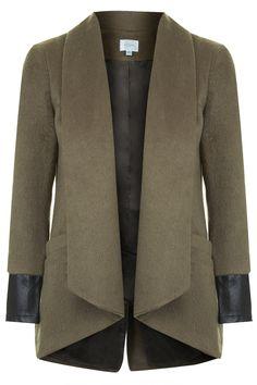 **Lässige Coty Jacke mit Ledermanschetten von Jovonna - Jacken & Mäntel - Bekleidung - Topshop