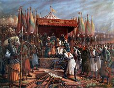 Salah al-Din victorious.  The Crusades - from a Muslim point of view