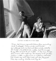 Duane Michals - Certain words must be said Tekstfragmenten