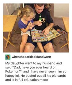 This is exactly how I will be as a parent, although it wont be pokemon with me :p