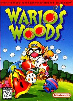 Wario's Woods Nintendo NES cover artwork
