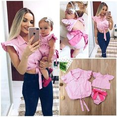 Family Matching Outfit Mother & Daughter Tops Baby Girl Romper Plaid Clothes FRE - Mother Daughter Dresses - Ideas of Mother Daughter Dresses #motherdaughterdresses #dress #fashion -  4  The post Family Matching Outfit Mother & Daughter Tops Baby Girl Romper Plaid Clothes FRE appeared first on Dress Honey.