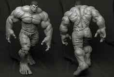 Hulk - Collectible Statue, Bruno Câmara on ArtStation at https://artstation.com/artwork/hulk-c5fc9d80-29f0-4ce8-bcfd-7cdfd221f181
