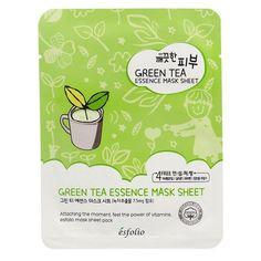 Green Tea Essence Mask Sheet by Esfolio Best Beauty Tips, Beauty Hacks, Beauty Ideas, Skin Care Regimen, Skin Care Tips, Cleansing Mask, Charcoal Mask, Sheet Mask, Beauty Products