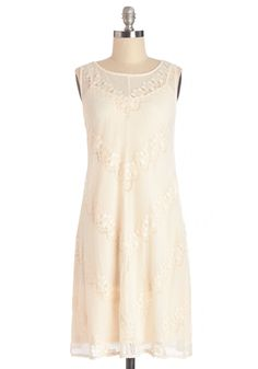 Crêpe Taster Dress. Before adding a them to her menu, your bestie always asks you to try her latest crpes! #cream #modcloth