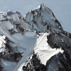 Conrad Jon Godlys Mountain Paintings Drip from the Canvas