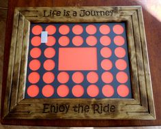 Personalized Casino Poker Chip Display Frame by CarvedByHeart