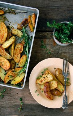 fingerling potatoes with herbs