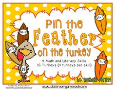 Pin the Feather on the Turkey Freebie!