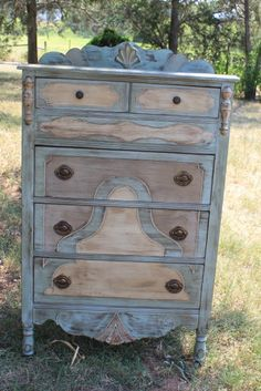 Love these chalk paint colors together!  abby's chest