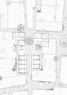 Architecture Infrastructure Assemblage Floor Plans, Architecture, Architecture Illustrations, Floor Plan Drawing, House Floor Plans