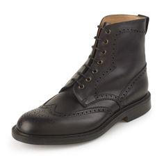 Alfred Sargent Howard Black Waxed - Pediwear Footwear