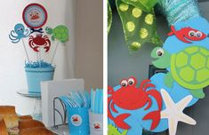 Under the Sea party: Hunter is 1!   Chickabug